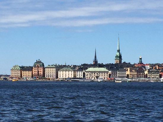Stockholm looked so beautiful from the ocean bus!
