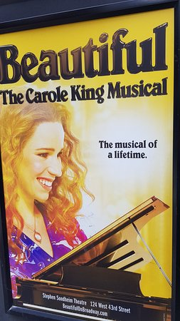 Beautiful The Carole King Musical: Poster outside