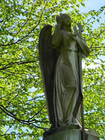 Menands, NY: Example of some Gravestone Statuary.