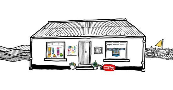 Остров Иона, UK: Our wee shop, drawn by Isla.