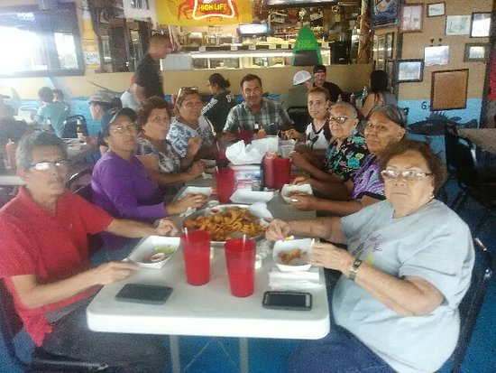 family gathering at south padre island dirty al's