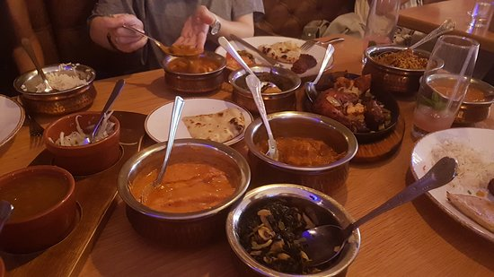 Indian Sizzler: Shared dishes. Luvverly !