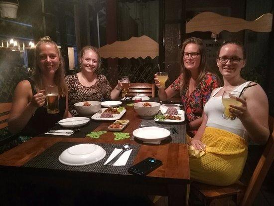 Haroo Haroo Korean Restaurant: Gorgeous cheeky Danish ladies @Haroo's