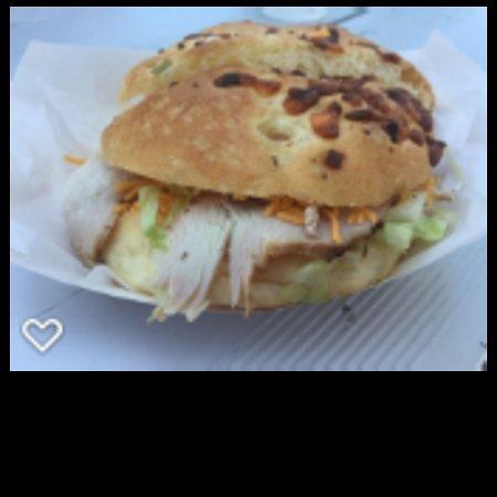 Fish Haven, Idaho: Turkey sandwich on an onion roll