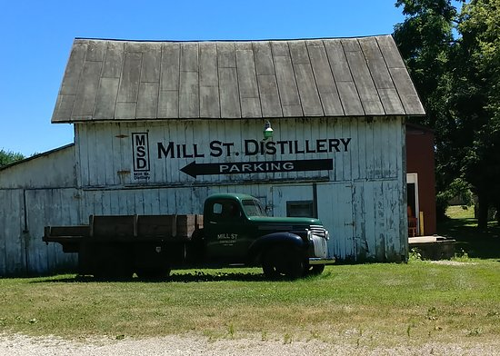 Mill Street Distillery: View as you pull into the Mill St. Distillery.