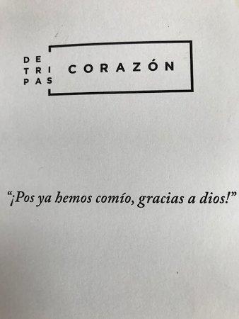 De Tripas Corazon: Una cita para cada cosa!