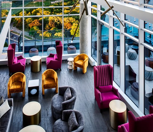 Hotel X Toronto by Library Hotel Collection: The Nest at Falcon SkyBar on the 27th floor of our 3 story rooftop.