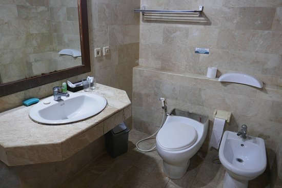 Melasti Kuta Bungalows and Spa: Bathroom