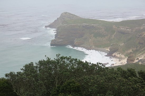 Cape Point, South Africa: view from the lighthouse just above the restaurant