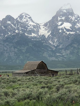 Jackson Hole, WY: Historic barn seen on tour.