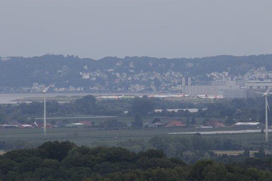Rosengarten, Tyskland: van de toren uitzicht op Hamburg