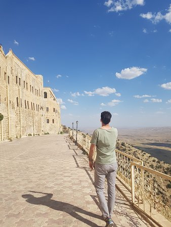 Mosul, Irak: I visited Mar Mattai Monastery with Fabio from Switzerland.