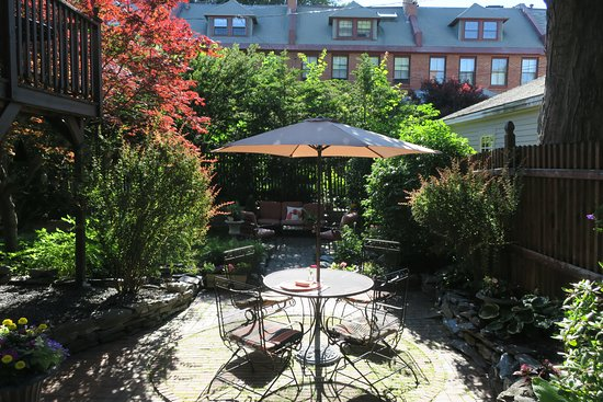 Inn On Carleton: Garden available to guests