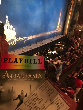 Anastasia the Musical: view from box seat