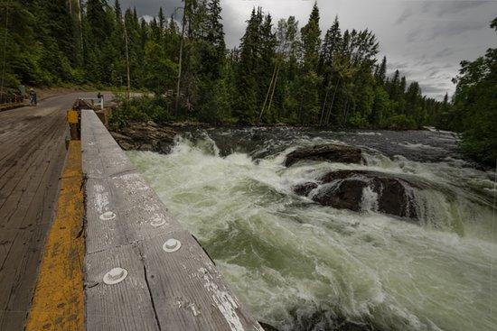 Wells Gray Provincial Park: Mush bowl bridge