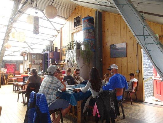 Cafe Mundo: 2nd floor dining area.
