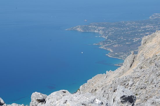 Outdoor Kefalonia: Not getting too close to the edge!