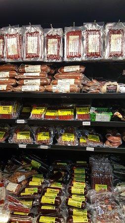 Mauston Park Oasis Restaurant: meats for sale