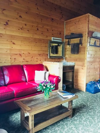 Pull out sofa bed in cabin