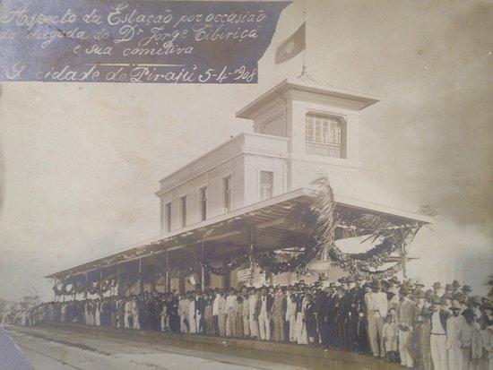 Constantino Leman History Museum: Inauguração da Estação de trem executada por Ramos de Azevedo