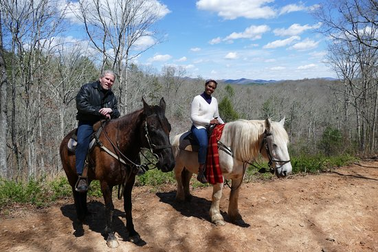 Blanche Manor Horseback Riding : The horses insisted on a photo-op.. (Seabiscuit might have been sleeping)