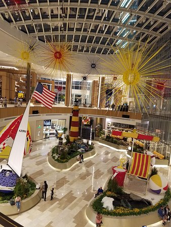 MGM National Harbor's lobby changes decor for the season