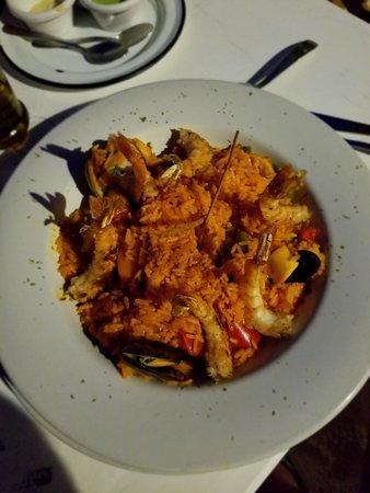 Mocambo Isla Mujeres: seafood paella