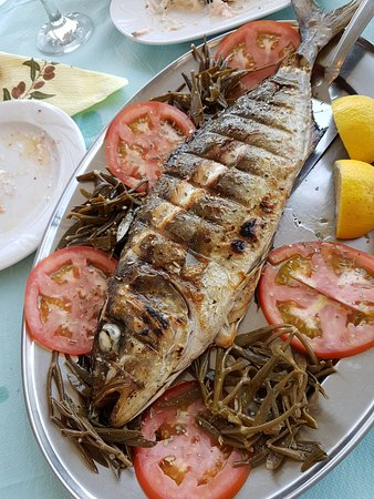 Steni Vala, Greece: fresh fish grilled