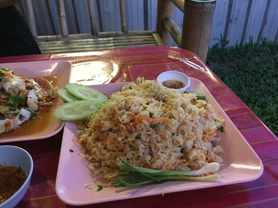 Red Clam Lable: Crab fried rice