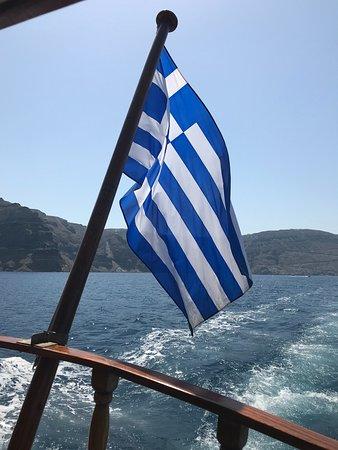 Anassa Deluxe Suites: Cruise to the Volcanic Island, Nea Kamini