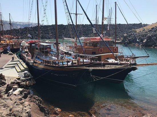 Anassa Deluxe Suites: Docking at the Volcanic Island, Nea Kamini