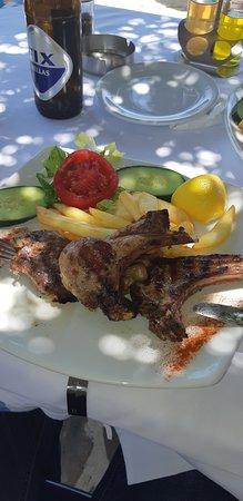 Ammoudara, Yunanistan: Баранина - просто не вероятная кухня. Я такую еще не ел.