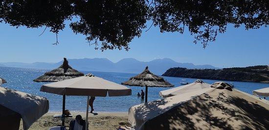 Ammoudara, اليونان: вид из-за стола