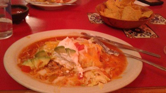 Sunnyside, WA: Half of a tasty super burrito. I tore into it before the picture.