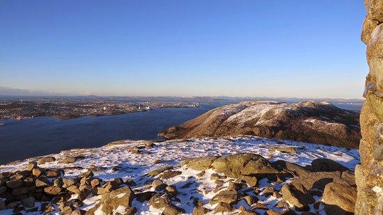 Dalsnuten: View from the top towards Stavanger.