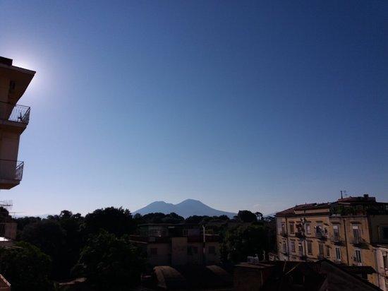 Il Portoncino: Il Vesuvio visto dalla terrazza del Portoncino.