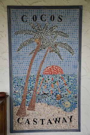 West Island: Lovely mosaic on the veranda.