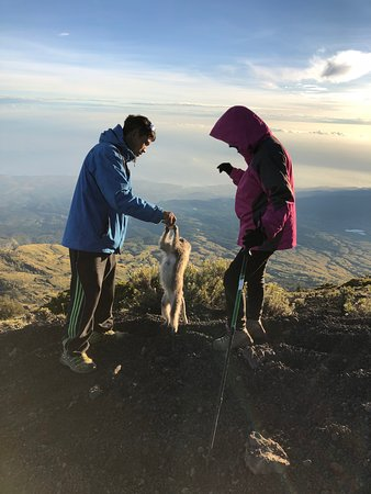 Attractive Rinjani: the summit of the volcano