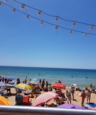 Poniente Beach: Beautiful beach on a beautiful day