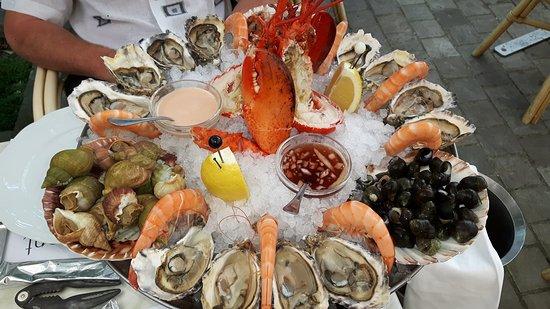 Lede, België: Heerlijke VERSE zeevruchten met VERSE kreeft!