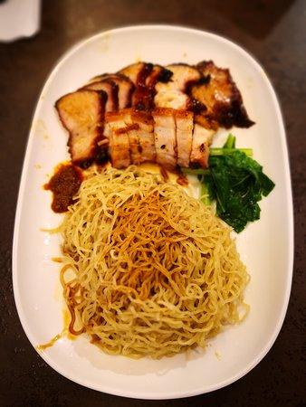 Hawker Chan Liao Fan Hong Kong Soya Sauce Chicken Rice & Noodle: BBQ and Roast Pork