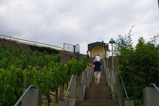 Spitzhaus Stairs: Kurz vor dem Ziel