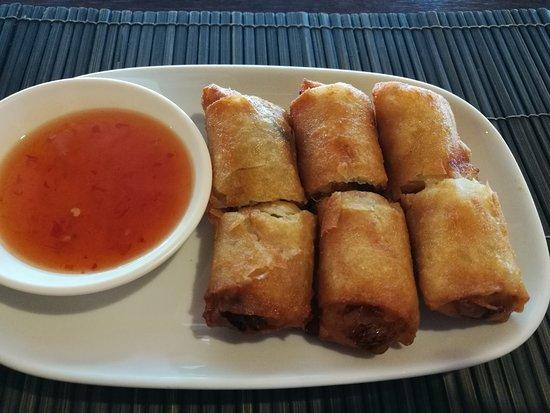 Rosco's Restaurant & Sports Bar : Homemade egg rolls. Tasty and hot!