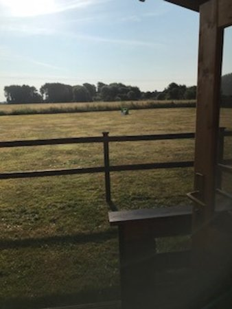 East Wittering, UK: Morning view from our cabin
