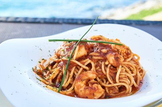 Restaurante La Bocana: Spaguettis LA Bocana