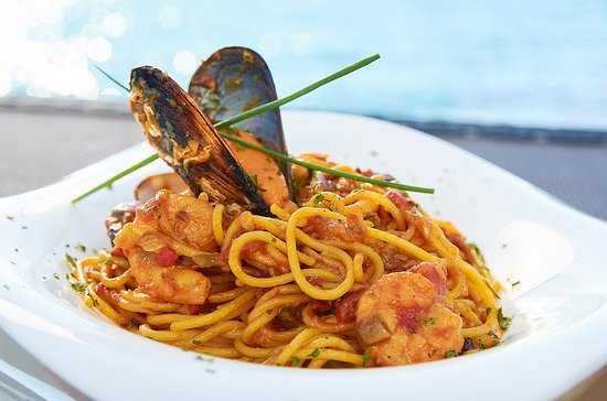 Restaurante La Bocana: Spaguettis a la marinera