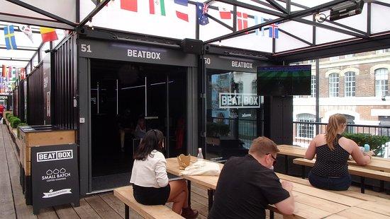 Boxpark Shoreditch: Top floor communal dining area