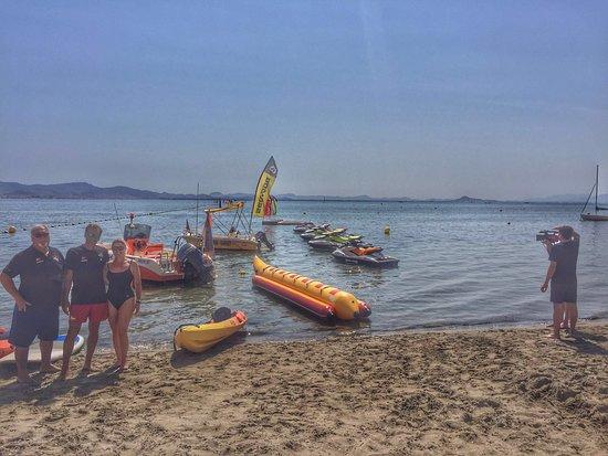 La Manga del Mar Menor, Spain: Día que vino la 7 Región de Murcia a hacer una grabación