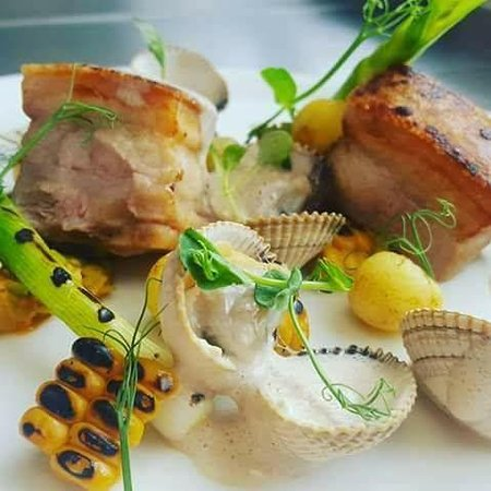 Ponteland, UK: Belly Pork with a touch of class