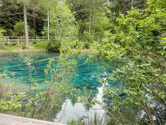 Unterbergen, Oostenrijk: Cool blue pond!!